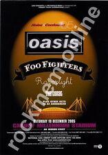 Oasis Foo Fighters Razorlight The Coral Cardiff Advert