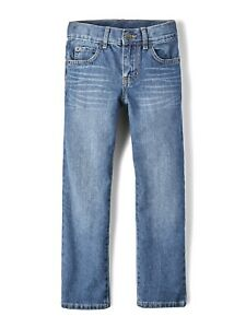 The Children's Place Boys 4-16 Straight Jeans, Carbon Wash, Size 16