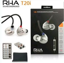 NEW RHA T20i Earphone Dynamic Driver Noise Isolation Mic Remote in black