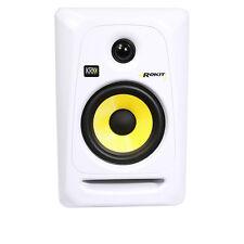 """KRK RP5G3 ROKIT 5 G3 5"""" Active Bi-Amped Studio Monitor Speaker White Single"""