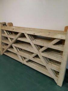Universal 5 Bar Wooden Gate/Field Gate - 3'-12' (3ft-12ft) Wide x  4'(4ft) High
