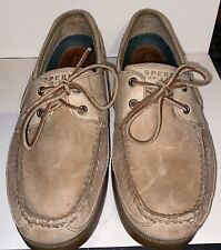 Mens Sperry Mako Collection Canoe Moc Leather Boat Shoes Sz 9.5 Toupe Slip On