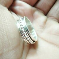 Solid 925 Sterling Silver Band Spinner Ring Jewelry Handmade All Size DO-356