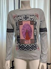 "Scoth & Soda Girls Long Sleeve "" Flamingos Are Fun"" Graphic Shirt Size 8"