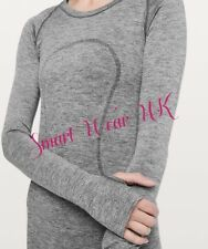 Lululemon Ladies Swiftly Tech Long Sleeve Crew Sparkle   (US 6/ UK10)   RRP £68
