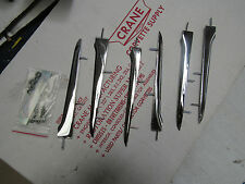 1958-61 CORVETTE NEW GM OEM CHROME FENDER SPEAR KIT CAR SET WITH HARDWARE