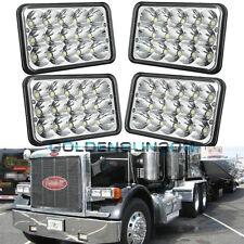 4x LED Headlights For Peterbilt Rectangular Headlights (Pack of 4) 357 378 379