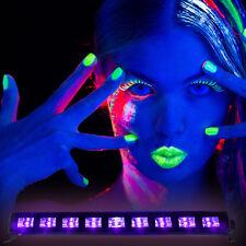 IBIZA Light LED UV-BAR 9x 3 Watt Schwarzlicht-UV LED Leiste mit Schalter!