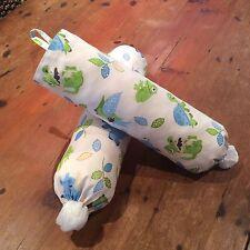 Nursery Blue & Lime Green Plastic Bag Dispenser/Holder,Hand Made, 50cm x 40cm