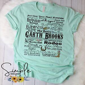 Garth Brooks Country Music Shirt, Custom T-shirt, Raglan, Country Music Legend