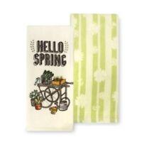 Hello Spring Kitchen Towel 2 Pack by Kohls Celebrate Spring Together