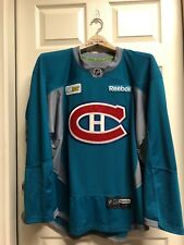 1717536e2 MONTREAL CANADIENS PRO PRACTICE JERSEY REEBOK 3.0 SZ 58 w AUTH TEAM SUBWAY  PATCH