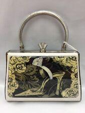 Debbie Brooks Black White Silver Handbag Evening Bag Handle New DIAMOND SHOE