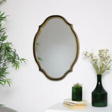 Gold Oval Shaped Wall Mirror art deco vintage home decor