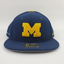 Nike Michigan Wolverines Baseball Fitted Hat USA Flag College World Series  grey