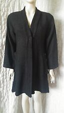 The Masai Clothing Black crochet knitted cardigan coat size L