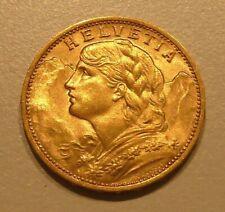900er GOLDMÜNZE VRENELI 20 FRANKEN HELVETIA, Jahreszahl 1927, Schweiz