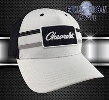 NEW Chevrolet Patch Black White Chevy Mens Adjustable Cap Hat