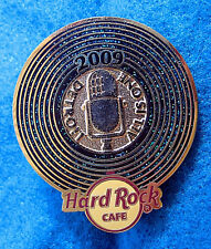 DETROIT GOLD & BLACK VINYL RECORD DISC MICROPHONE 2009 Hard Rock Cafe PIN LE
