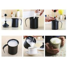 1PC Milk Bubble Pot Hand Pump Foamer Double Froth Foamer Milk Frother 400cc