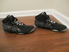 Used Worn Size 12 Asics Snapdown Wrestling Shoes Black Gray Silver