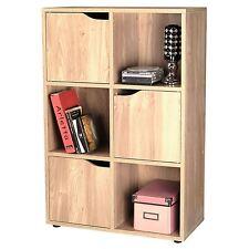 Nuevo Y Sellado De Roble De 3 puertas unidad de almacenamiento de 6 Cubos de Madera Estante de libros
