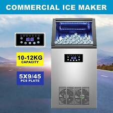 Built-In Stainless Steel Commercial 110Lbs/24H Ice Maker Portable Ice Machine