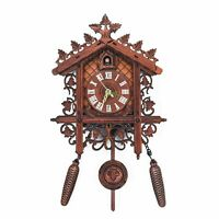Good Bird Sound Wooden Cuckoo Wall Clock Forest Design Hanging Pendulum Wei A8U6