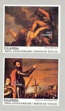 Uganda #635-636 Titian Art 2v S/S Imperf Proofs