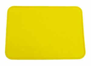 """NOS Neal Enterprises old school BMX RECTANGLE Number Plate 10"""" x 7"""" - YELLOW"""