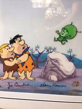 Flintstones Great Gazoo Cartoon Cel Signed by Hanna, Barbera, Korman 1 of 300