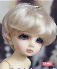 BJD Doll Hair Wig Mohair 7-8 inch 18-20cm  golden 1/4 MSD DZ DOD LUTS Short hair