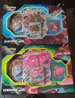 Pokemon TCG Blastoise and Venusaur VMAX Battle Box Bundle (Factory Sealed) LAST1
