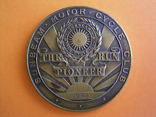 Sunbeam Motor Cycle Club - The Pioneer Run - Participants Medal 1962