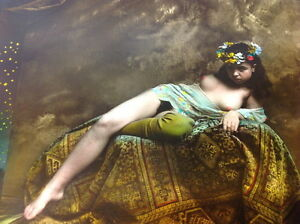 Jan Saudek, Original photograph , RARE!!! Reclining girl #810