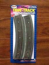 "Atlas 1/87 Ho True Track Code 83 N/S 18"" Radius Curved Track 4-Pack Item 460 F/S"