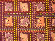 CARE BEARS BORDER SQUARES PRINT COTTON FABRIC FQ OOP