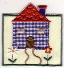 Country House w/ Flowers Embroidery Patch Applique