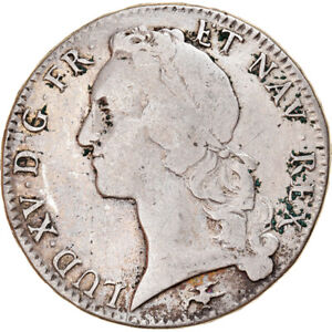 [#877635] Coin, France, Louis XV, Écu au bandeau, Ecu, 1757, Lyon, VF(30-35)
