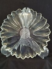 Pair of vintage Hazel Atlas Glass Co.  Collectable Daisy pattern plates