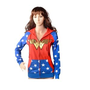Adult Teen Hoodie Costume inspire by Wonder Woman for Halloween Cosplay Party