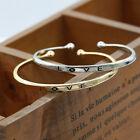 Vogue Women Gold/Silver Plated Love Bracelet DIY Jewelry Cuff Bangle Gift