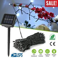 Solar String Lights 72 ft 200LED Garden Yard Decor Fairy Lamp Outdoor Waterproof