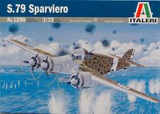 S.79 Sparviero Aircraft Plastic Kit 1:72 Model 1290 ITALERI