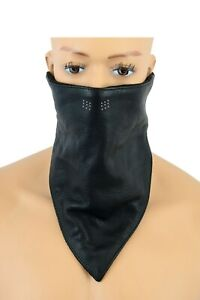 HIGHWAY LEATHER Facemask Motorcycle Leather Half Face Mask 100% Natural Buffalo