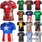 Mens Sports T-Shirt Marvel Superhero Costume Top Tee Jersey Cycling Shirts Tops