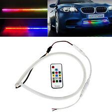"24"" RGB LED Strip Light Knight Rider Scanner Neon Grill Under Spoiler Hood Kit"
