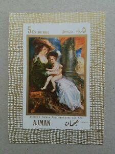 Ajman Rubens Helene Art Mini Stamp Sheet MNH