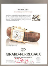 Girard-Perregaux Vintage 1945 Publicité Année 2001 Advertising  AD Paper Papier