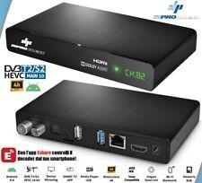 Box Tv Con Android 9.0 Doppio Tuner DVB-S2 DVB-T2/C H.265 Nuovo Standard HEVC